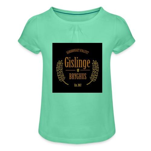 Sort logo 2017 - Pige T-shirt med flæser