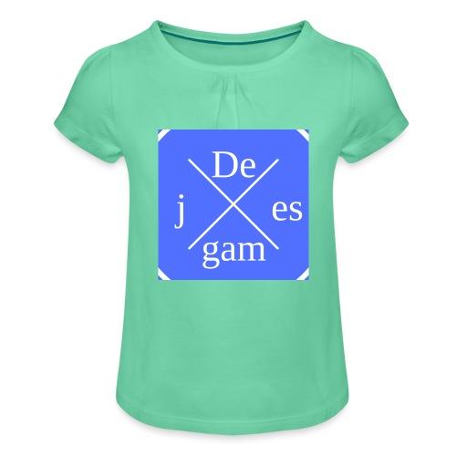 de j games kleren - Meisjes-T-shirt met plooien