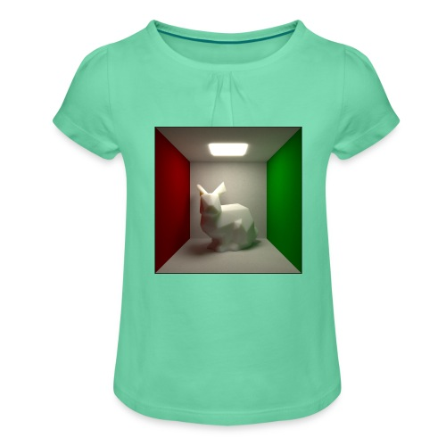 Bunny in a Box - Girl's T-Shirt with Ruffles