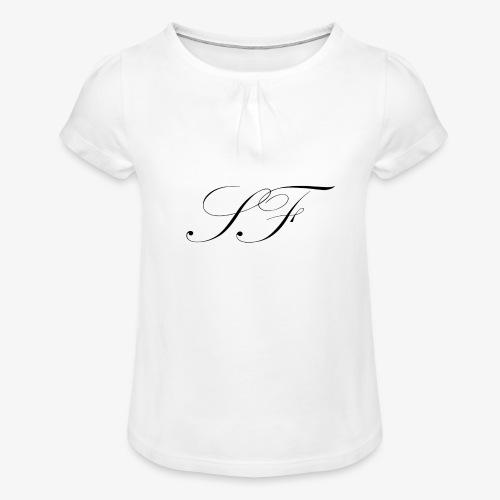 SF HANDWRITTEN LOGO BLACK - Girl's T-Shirt with Ruffles