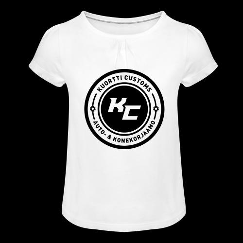 kc_tunnus_2vari - Tyttöjen t-paita, jossa rypytyksiä