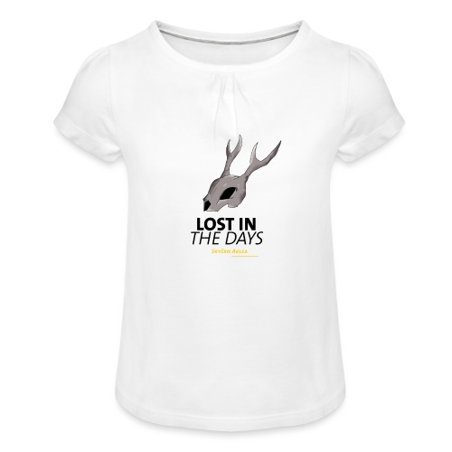 crane sky visu t shirt2 png - T-shirt à fronces au col Fille