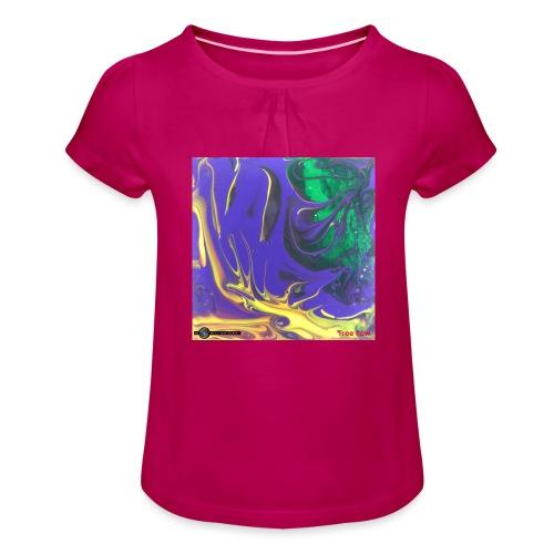 TIAN GREEN Mosaik DK010 - Free flow - Mädchen-T-Shirt mit Raffungen