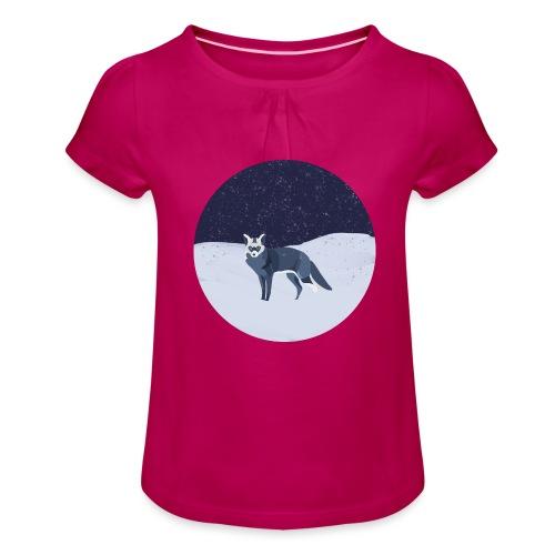 Blue fox - Tyttöjen t-paita, jossa rypytyksiä