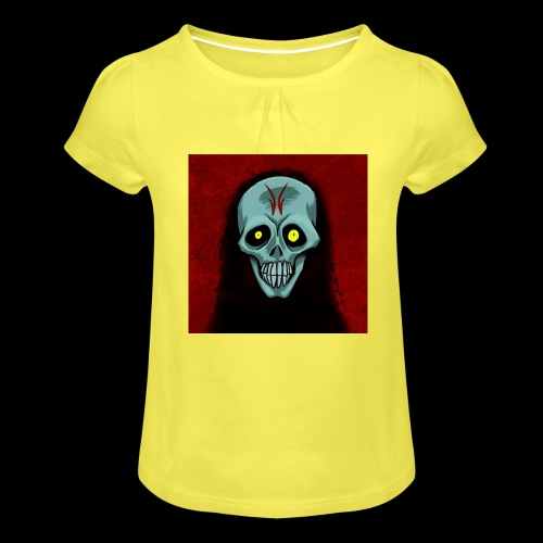 Ghost skull - Girl's T-Shirt with Ruffles