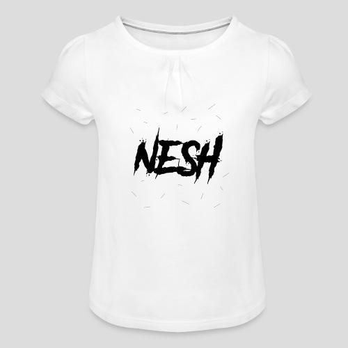 Nesh Logo - Mädchen-T-Shirt mit Raffungen
