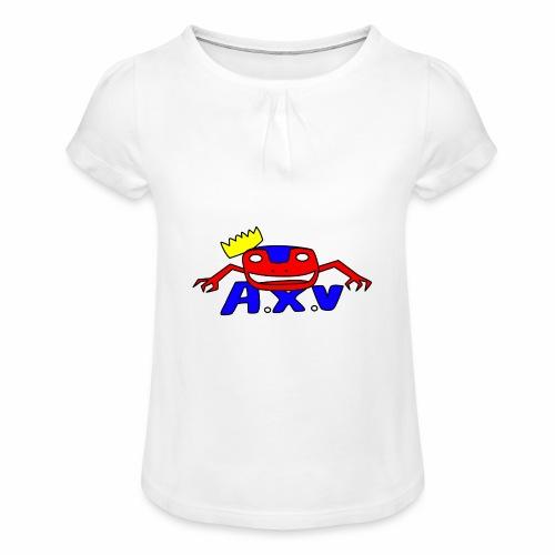 Frog world - T-shirt à fronces au col Fille