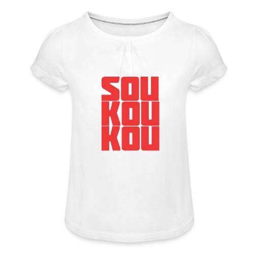 soukoukou Logo - T-shirt à fronces au col Fille