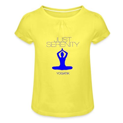 yogatyk blue - T-shirt à fronces au col Fille