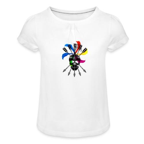 Blaky corporation - Camiseta para niña con drapeado