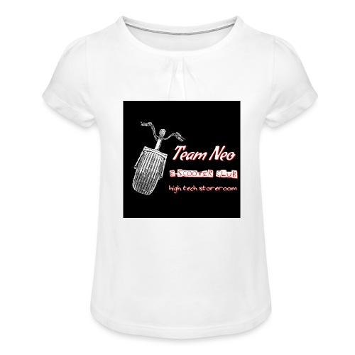 Neo Scooter Club - T-shirt à fronces au col Fille