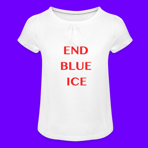 END BLUE ICE - Girl's T-Shirt with Ruffles