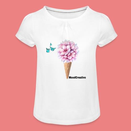 MoodCreativo - Maglietta da ragazza con arricciatura