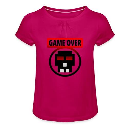 Game over - Mädchen-T-Shirt mit Raffungen