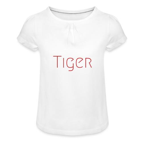 Tiger - T-shirt à fronces au col Fille