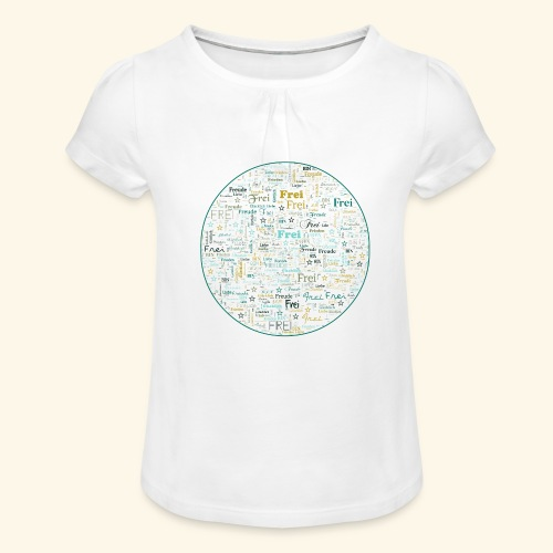 Ich bin - Mädchen-T-Shirt mit Raffungen