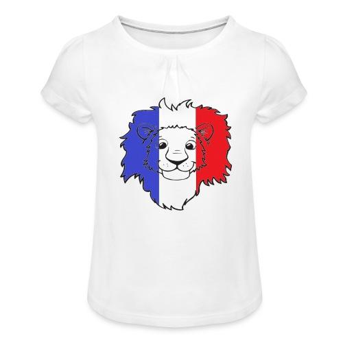 Lion France - T-shirt à fronces au col Fille