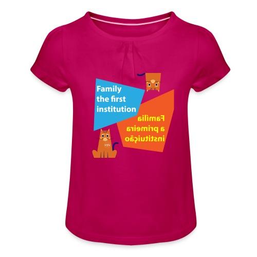 Duna Família - Jente-T-skjorte med frynser