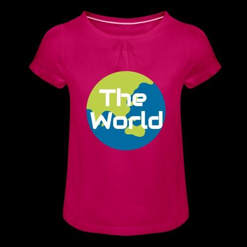 The World Earth - Pige T-shirt med flæser