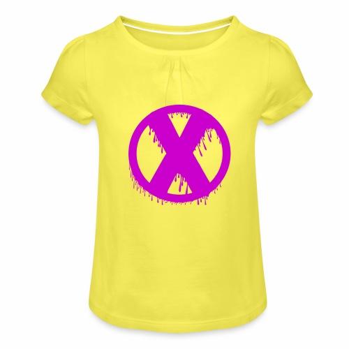 X - T-shirt à fronces au col Fille