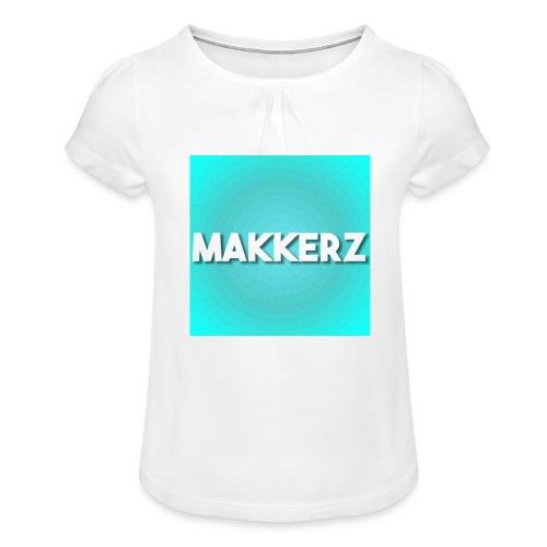 Makkerz Logo 2 - Girl's T-Shirt with Ruffles