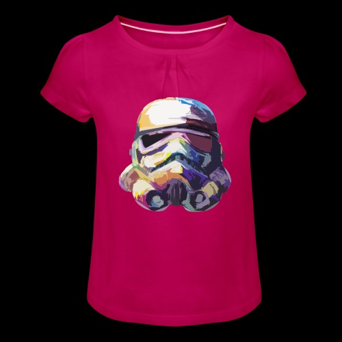 Stormtrooper with Hope - Girl's T-Shirt with Ruffles