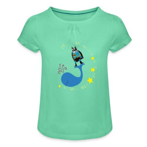 Super baleine - T-shirt à fronces au col Fille