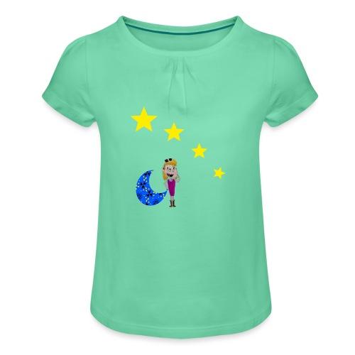 Rêveuse - T-shirt à fronces au col Fille