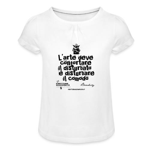 Aforisma Banksy - Maglietta da ragazza con arricciatura