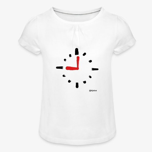 Kello - Tyttöjen t-paita, jossa rypytyksiä