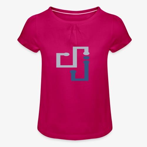 Amo la música DJ - Camiseta para niña con drapeado