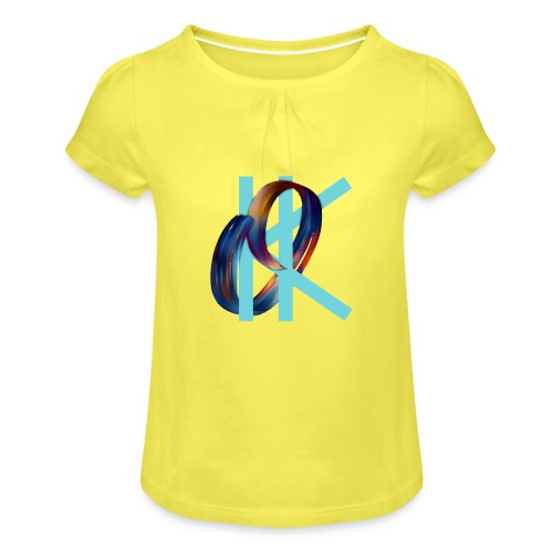 OK - Girl's T-Shirt with Ruffles