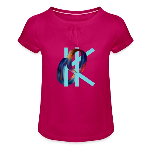 OK - Girl's T-Shirt with Ruffles