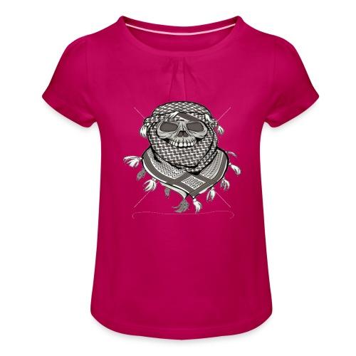 Krieger - Mädchen-T-Shirt mit Raffungen