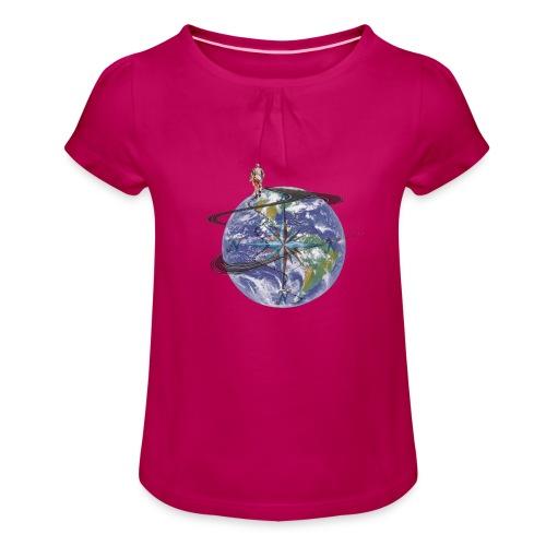 homme terre expression - T-shirt à fronces au col Fille