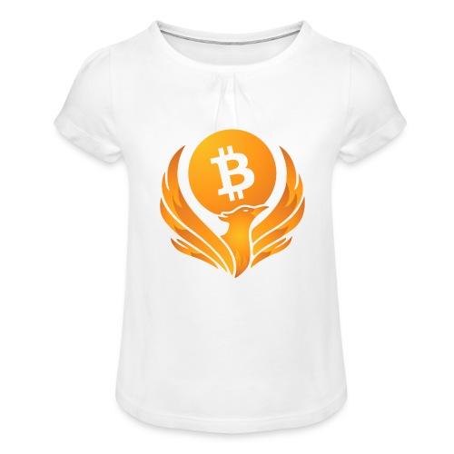 BITCOIN FENIKS - Koszulka dziewczęca z marszczeniami