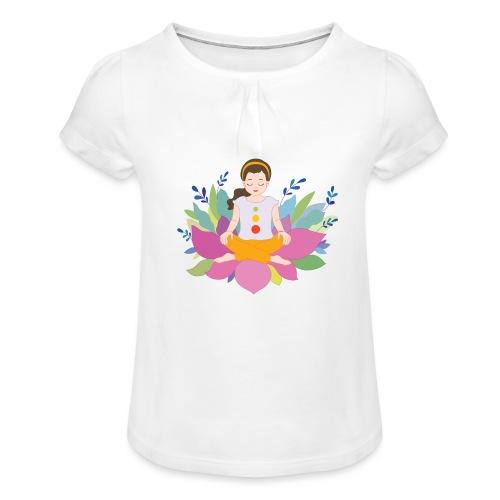 Yogi - Mädchen-T-Shirt mit Raffungen