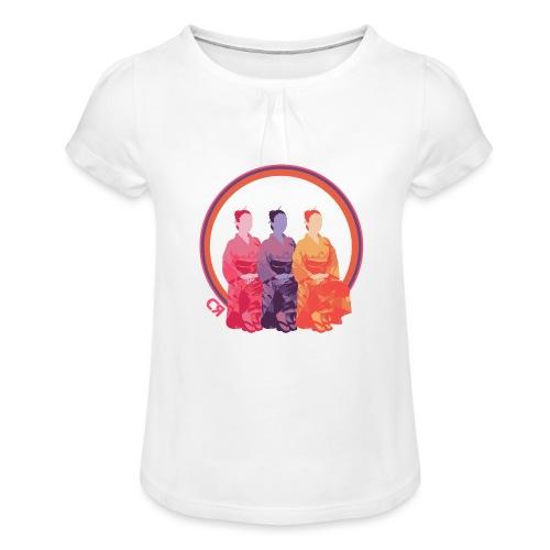CR - Neon Kimono - Camiseta para niña con drapeado