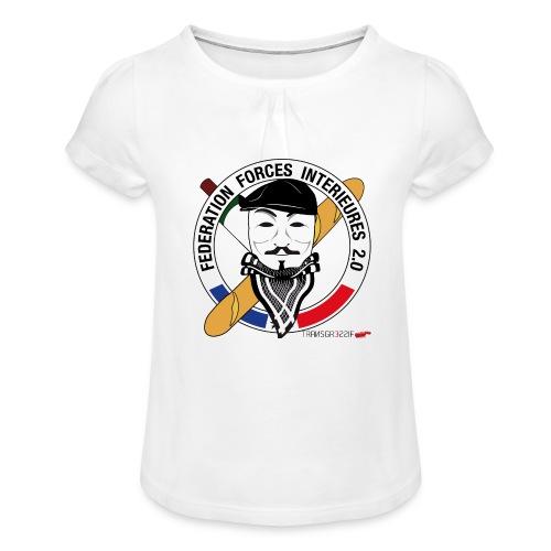 FFi Anonymous - T-shirt à fronces au col Fille