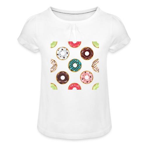 Donitsi - Tyttöjen t-paita, jossa rypytyksiä