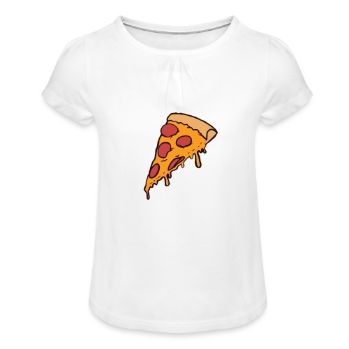 Pizza - Camiseta para niña con drapeado