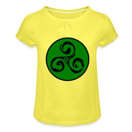 Triskel and Spiral - Camiseta para niña con drapeado