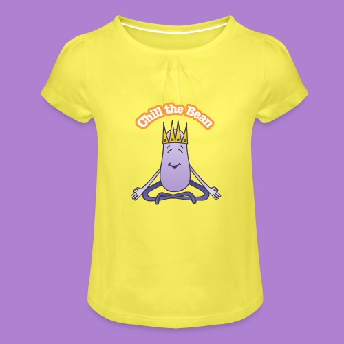 Chill the Bean - Girl's T-Shirt with Ruffles