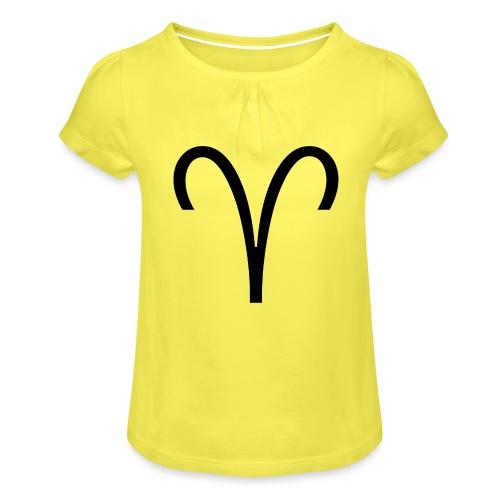 Widder - Mädchen-T-Shirt mit Raffungen