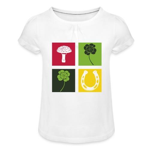 Just my luck Glück - Mädchen-T-Shirt mit Raffungen