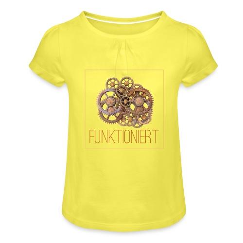Zahnräder shirt - Mädchen-T-Shirt mit Raffungen