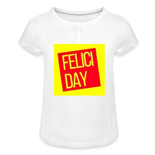 Feliciday - Camiseta para niña con drapeado
