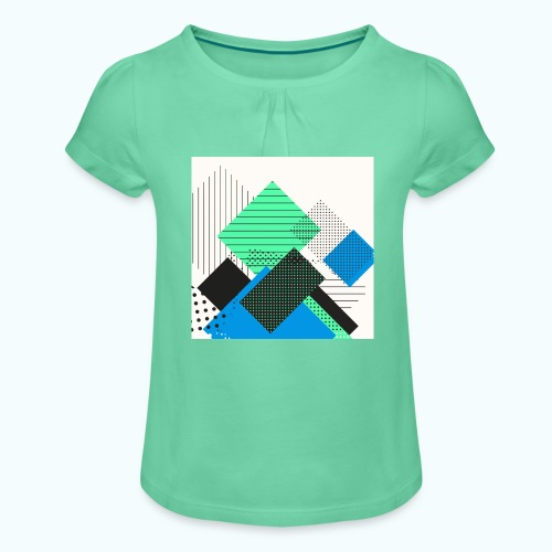 Abstract rectangles pastel - Girl's T-Shirt with Ruffles