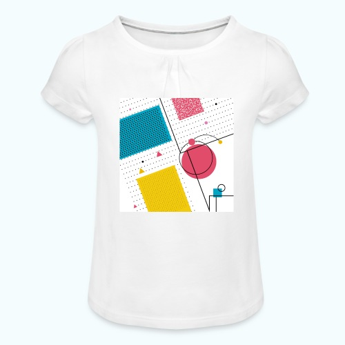 Colors shapes abstract - Girl's T-Shirt with Ruffles