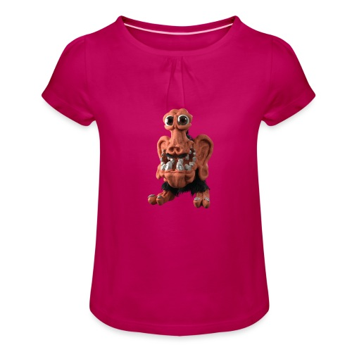 Very positive monster - Girl's T-Shirt with Ruffles